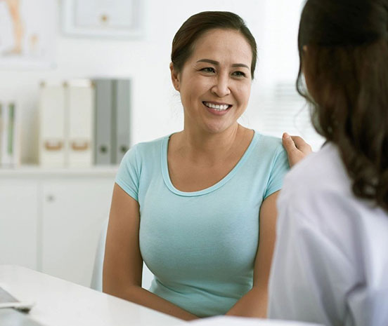 A woman that's getting health coaching
