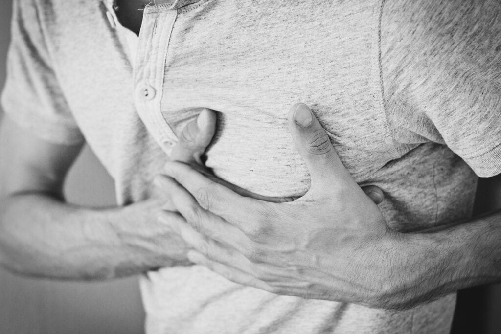 You feel chest pains or chest tightness upon little exertion (e.g. climbing a flight of stairs).